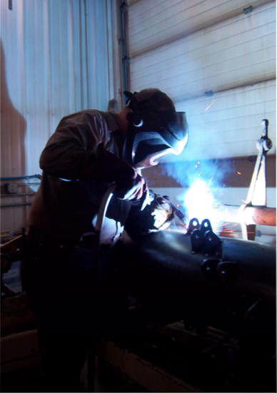 Welding at Burdick Bros